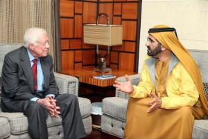 Sheikh Mohammed Receives Jimmy Carter