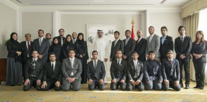 Sheikh Mohamed bin Zayed Receives UAE students in Japan