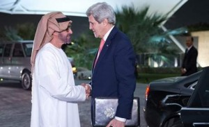 Sheikh Mohammed bin Zayed Meets Kerry