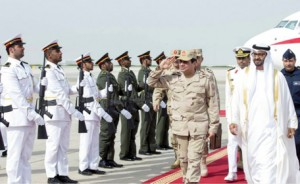 Sheikh Mohammed bin Zayed welcomes Al Sisi