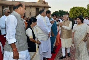 Modi Sworn in, PM Nawaz attends Ceremony