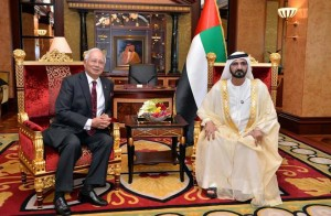Sheikh Mohammed receives Malaysian PM