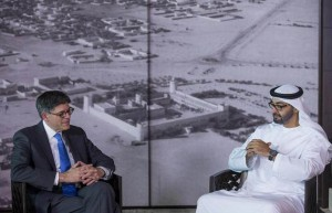 Sheikh Mohamed bin Zayed Meets US Secretary of Treasury