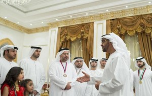Sheikh Mohamed bin Zayed meets UAE chess players