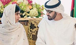 Sheikh Mohamed bin Zayed congratulates Malala