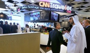 CNN's traveller cafe at Abu Dhabi airport