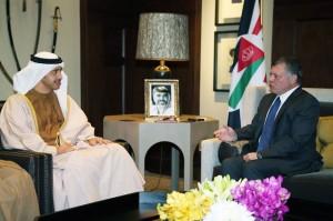 King of Jordan receives Sheikh Abdullah