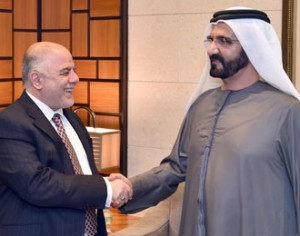 Sheikh Mohammed receives Iraqi PM