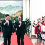 Sisi on his first presidential visit to China
