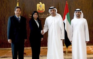 Sheikh Abdullah receives Venezuelan Ministers