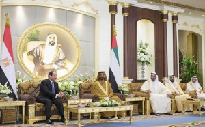 UAE leaders receive Egyptian President