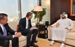 Sheikh Maktoum receives CEO of Ericsson Group