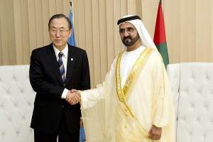 Sheikh Mohammed meets Ban ki Moon