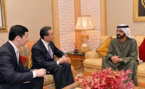 Sheikh Mohammed receives China's FM