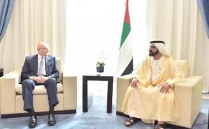 Sheikh Mohammed meets Lebanese counterpart