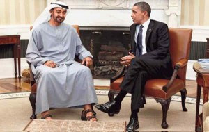 Sheikh Mohamed bin Zayed Al Nahyan meets Obama