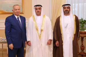 Sheikh Saif meets President of Uzbekistan