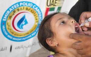 UAE polio campaign vaccinates Pakistani children