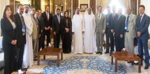Ajman Ruler receives Int'l Business Conference participants