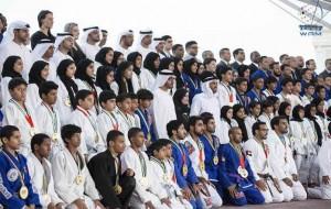 Sheikh Mohamed bin Zayed receives UAE jiu jitsu champions
