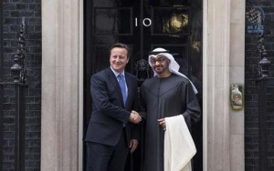 Sheikh Mohamed bin Zayed meets Cameron