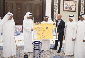 Sheikh Mohamed bin Zayed receives Ocean Racing team