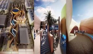 UAE pavilion visitors experience walk in desert city