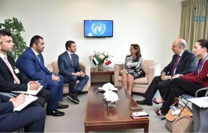 FM meets other FM's on side-lines of UNGA 70