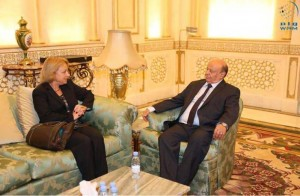 President Hadi meets head of EU mission to Yemen