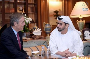 Sheikh Hamdan bin Zayed receives Duke of Westminster