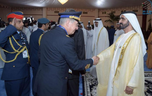 UAE Leaders receive delegations at Dubai Airshow