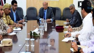 Yemeni President visits Arab Coalition Command Centre