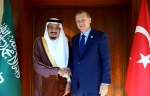 King Salman holds talks with Turkish PM