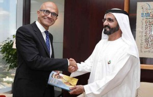 Sheikh Mohammed receives CEO of Microsoft