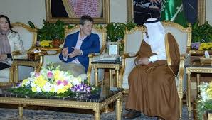 Custodian of Two Holy Mosques meets Denmark's CP