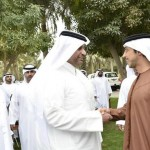 Sheikh Mansour receives Qatars Minister of Economy
