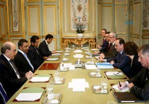 French President receives Sheikh Abdullah
