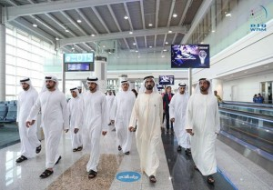 Sheikh Mohammed inspects concourse D building