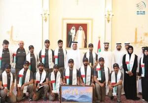 Emirati Mount Everest climbers received