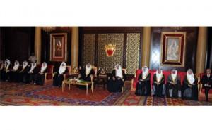 HM the King receives senior officials, diplomats