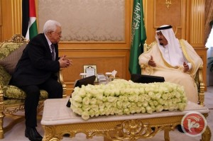 Saudi king meets Palestinian president