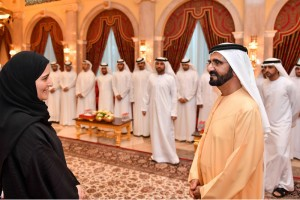 Sheikh Mohammed receives top-achieving students