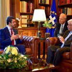 Greek President receives Sheikh Abdullah