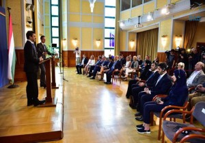 Sheikh Abdullah meets Hungarian counterpart