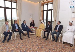 Sheikh Mohammed meets Montenegro PM