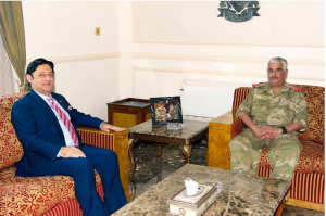 National Guard president receives Pakistani ambassador