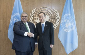 Bahrain's FM meets UN Secretary-General