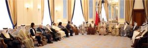 Bahrain's Premier receives award laureates