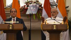 Indian PM hold talks with President Sisi