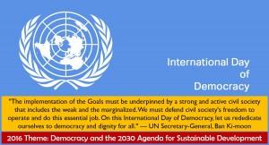 International Day of Democracy observed